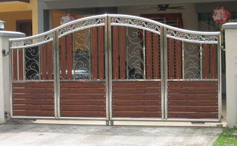 steel railing gate design