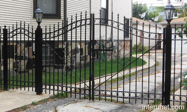 steel fence gate designs