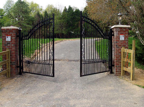 automatic steel gate deisgns